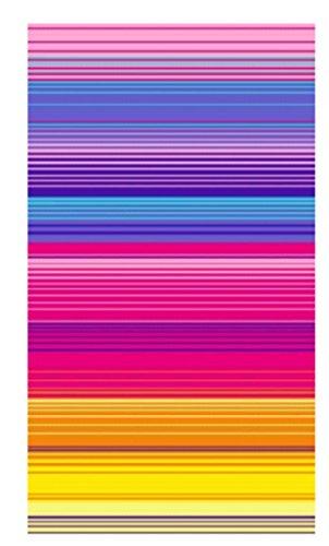 100-Pure-Cotton-Luxury-Rainbow-Stripe-Blue-Pink-Beach-Towel-Modern-Design-75x150cms-0