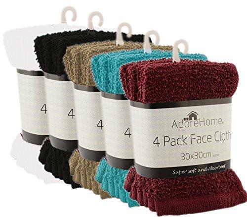20-Assorted-Colour-100-Cotton-face-cloths-Flannels-30cm-x-30cm-0-0