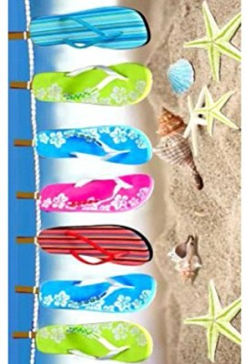 75x150cm-100-Cotton-Velour-BeachBath-Towel-Beach-Flip-Flop-0