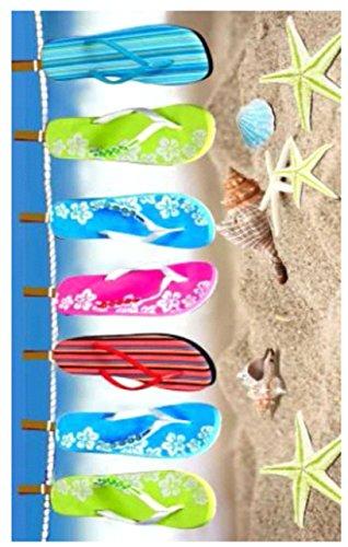 75x150cm-100-Cotton-Velour-BeachBath-Towel-Beach-Flip-Flop-0