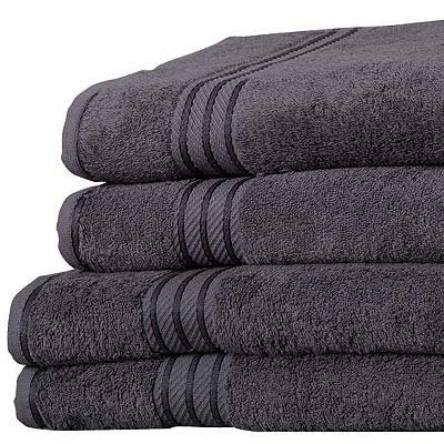 Linens-Limited-Supreme-100-Egyptian-Cotton-500gsm-4-Piece-Guest-Towel-Set-Charcoal-0-0