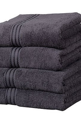 Linens-Limited-Supreme-100-Egyptian-Cotton-500gsm-4-Piece-Guest-Towel-Set-Charcoal-0