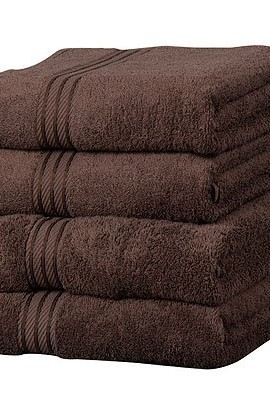 Linens-Limited-Supreme-100-Egyptian-Cotton-500gsm-4-Piece-Guest-Towel-Set-Chocolate-0
