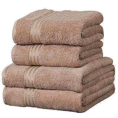 Linens-Limited-Supreme-100-Egyptian-Cotton-500gsm-4-Piece-Guest-Towel-Set-Latte-0