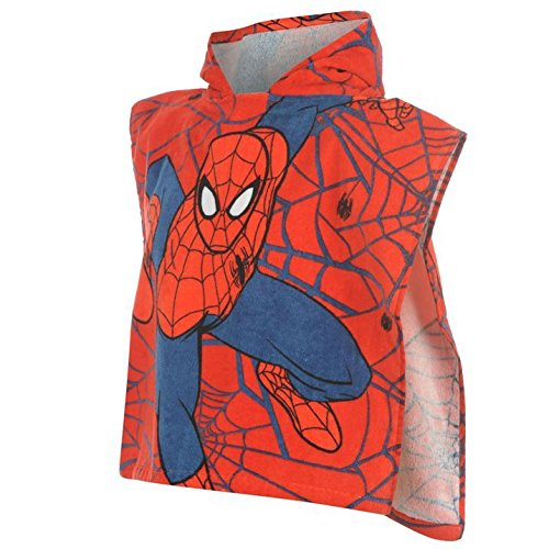 Marvel-Unisex-Towel-Poncho-Infants-Spiderman-One-Size-0-0