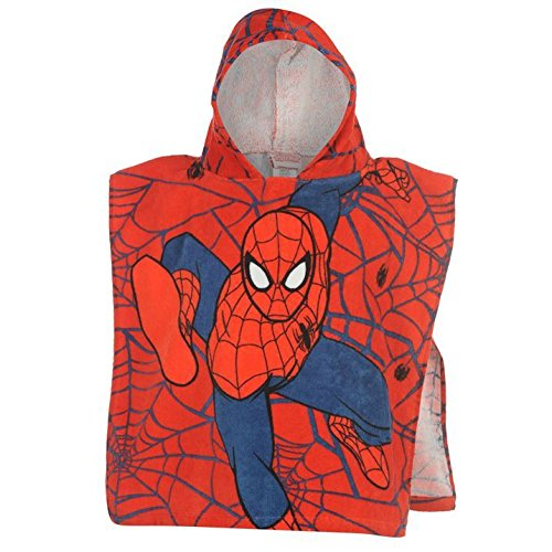 Marvel-Unisex-Towel-Poncho-Infants-Spiderman-One-Size-0