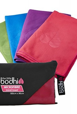 Microfibre-Towel-X-Large-size-180cm-x-90cm-with-carry-bag-a-quick-dry-towel-in-4-stunning-colours-pink-blue-green-purple-Great-for-travel-sports-gym-camping-swim-yoga-pilates-bikram-beach-bath-or-at-h-0