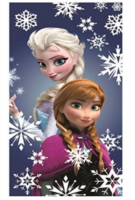 Official-Disney-Frozen-Elsa-Anna-Snowflakes-Cotton-Beach-Bath-Towel-0